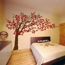 cherry blossom tree blowing in the wind wall decal sticker graphic