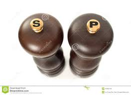 wooden salt and pepper shakers royalty free stock photo image