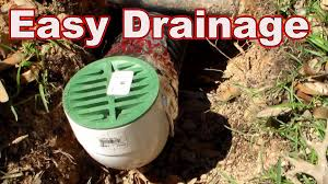 how to install french drain the downspout drain youtube