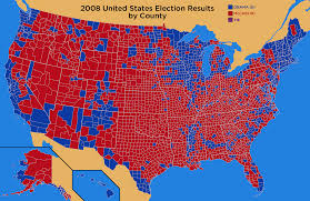 Romney Obama Map Maps Of The 2008 Us Presidential Election Political Maps Election