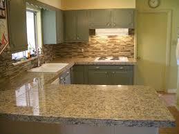 glass tile backsplash ideas kitchen black granite countertops