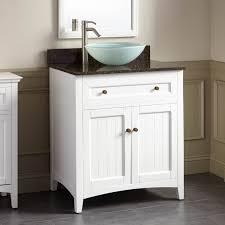 Bathroom Vanity Bowl Sink White Bathroom Vanity Cabinet Vessel Sinks Sink With Faucet Holes