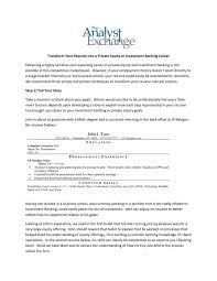 cover letter internship investment banking samples