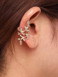 ear cuffs india ear cuff rhinestone leaf ear cuffs online shopping india