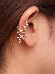 ear cuffs online shopping ear cuff rhinestone leaf ear cuffs online shopping india
