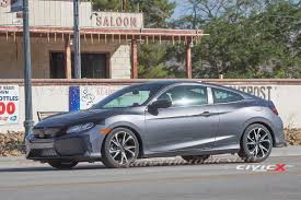 honda civic 2017 coupe 2017 honda civic si coupe first sighting 2016 honda civic