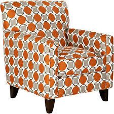 Burnt Orange Accent Chair Home Seating Chairs Accent Chairs Colorful Polyvore