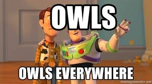 Woody And Buzz Meme - owls owls everywhere woody buzz everywhere meme generator