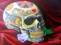 sugar skulls for sale sugar skull painting by daniel lezama