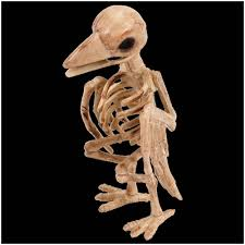 raven skeleton decoration halloween prop mad about horror