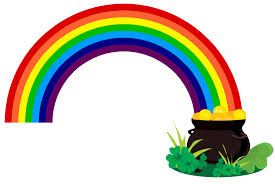 rainbow pot of gold coloring pages rainbow and pot of gold clipart free download clip art free