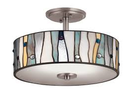 Lowes Kitchen Ceiling Light Fixtures Kitchen Shop Flush Mount Lighting At Lowes Within New Lowes
