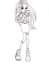 free printable monster high coloring pages frankie fashion 2012