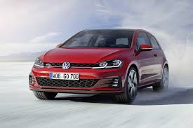 gti volkswagen 2016 2018 vw golf and gti lineup gets a facelift with more power and