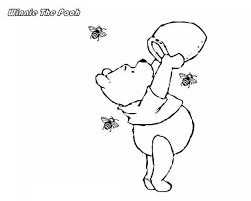 winnie the pooh run out of honey colouring page colouring pics