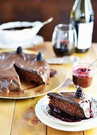 wine chocolate vegan wine chocolate cake with blackberry wine sauce and