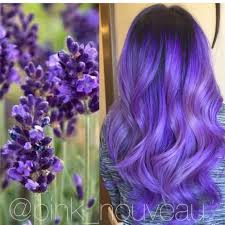 inspired by flowers beautiful lavender hair color and long wavy