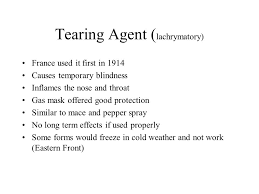 What Can Cause Temporary Blindness Poison Gas Use During Wwi Types Of Poison Gas Tearing Agent