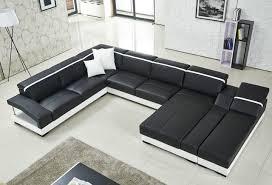 canap forme u lizz noir modulaire salon costume u en forme de canapé en cuir