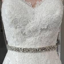 bridal belt lola slim bridal belt narrow bridal sash with crystals