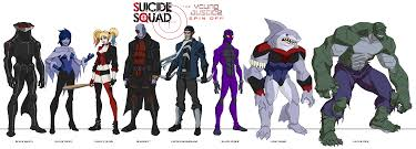 young justice young justice style squad by dark bub on deviantart