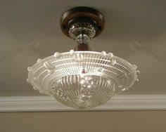 1940s kitchen light fixtures pair available vintage rewired flush mount ceiling light fixture 2
