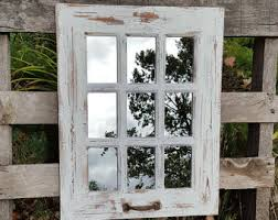 farmhouse window mirror shabby chic mirror large