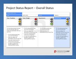 Project Management Status Report Template Excel Powerpoint Template For Project Status Use The Project Management