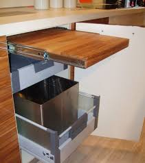 corner kitchen cabinet storage wood flooring trash bin ikea pantry