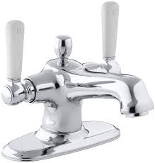 kohler bathroom sink faucets single hole kohler k 10579 4p cp bancroft monoblock lavatory faucet polished