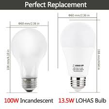 Led Light Bulbs 100w Equivalent by Lohas Led Bulb A19 Led 100w Equivalent Light Bulbs 13 5w Led