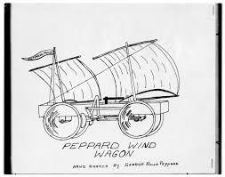 hand sketch of peppard wind wagon kansas memory kansas