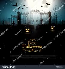 halloween background spooky old graveyard stock vector 317398121