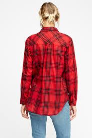 Tartan Print Casual Shirt Just 5