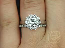 flower halo engagement ring rosados box blossom 6 5mm ultra bd eye 14kt white gold