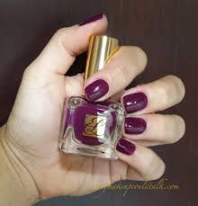 estee lauder insolent plum pure color nail lacquer review and