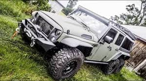 jeep hellcat 6x6 chinese firm reveals 6x6 jeep wrangler dubbed the tomahawk car
