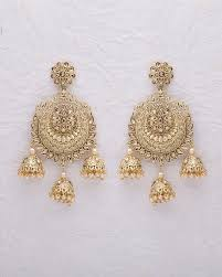 jhumka earrings buy designer gold plated chandbali jhumka earrings online india