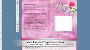 how to make funeral programs creating a memorial program