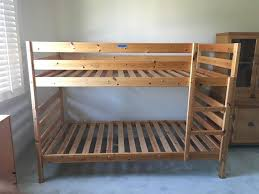 Pine Bunk Bed Pine Bunk Bed Frame The Local Flea
