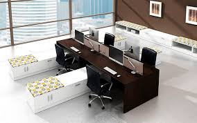Modern Office Furniture Workstation Desk Laminate Contemporary Commercial Modern