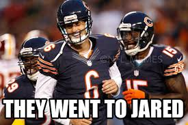 Bears Memes - jared allen chooses bears over seahawks daily snark