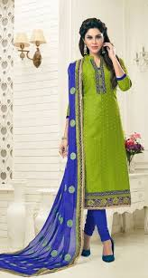 buy party wear green u0026royal blue dress material with heavy dupatta