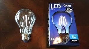 Led Blue Light Bulb by Feit 4 5watt Blue Filament Led Light Bulb Youtube