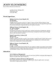 Resume Template For Work Experience 30 Basic Resume Templates