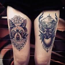 50 awesome thigh tattoos for tatoo and shin