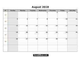 printable calendar 2018 august august 2018 calendar printable template with holidays pdf word excel