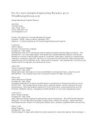 cover letter mechanical engineering sample resume free mechanical