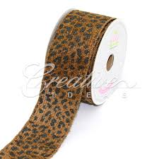 leopard ribbon ribbons safari ribbons creative ideas wholesale supplier of