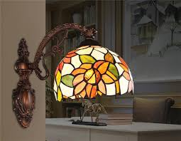Tiffany Style Wall Sconces Tiffany Style Wall Lights Stained Glass Shade Downlight For Foyer
